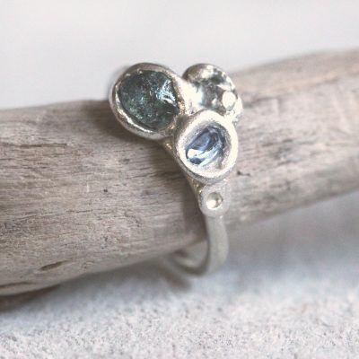 Triple Sapphire Nest Ring